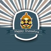 pic of ravan  - Illustration of Ravan face on vintage background for Indian festival Dussehra celebration - JPG