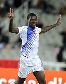 BARCELONA - DEC, 30: Cape Verdean player Jorge Djaniny celebrating goal during the friendly match be