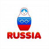 Russian Olympic Matryoshka - traditional Russian toy (doll)