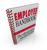 stock photo of policy  - Employee Handbook Manual Rules Regulations Code of Worker Conduct - JPG