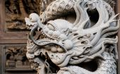 Temple Stong Carving - Dragon