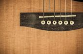 stock photo of wood craft  - Close up Brown Acoustic Wood Guitar Classic - JPG