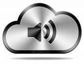 image of trough  - music storage upload and download share or live stream radio listening trough cloud computing - JPG