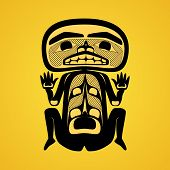 picture of tlingit  - Vector illustration of a man - JPG