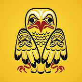 picture of tlingit  - Vector illustration of an eagle - JPG