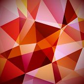 Abstract triangular geometric background - eps10 vector