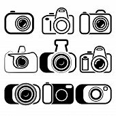 pic of megapixel  - camera set symbols vector illustration - JPG