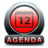 agenda timetable and business schedule organizing and planning time use for meetings and organize or
