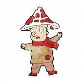 picture of magical-mushroom  - cartoon magical mushroom man - JPG