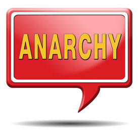 stock photo of anarchists  - anarchy anarchism anarchist wants revolution is a political philosophy - JPG