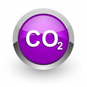 stock photo of carbon-dioxide  - carbon dioxide pink glossy web icon - JPG