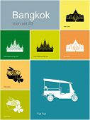 stock photo of rickshaw  - Landmarks of Bangkok - JPG
