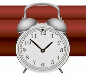 stock photo of time-bomb  - Time bomb with alarm clock detonator - JPG