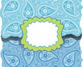 stock photo of lice  - Cute envelop with Paisley lice ornament - JPG