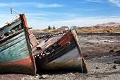 picture of bute  - Old wooden boat abandoned on Salen beach Isle of Mull Scotland - JPG