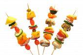 stock photo of kebab  - Fun way to eat healthy vegetables - JPG
