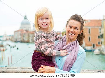 Portrait Of Smiling Mother And