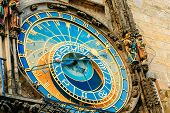 Постер, плакат: Astronomical Clock In Prague Czech Republic Close Up Photo
