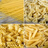 ������, ������: Collage of different macaroni
