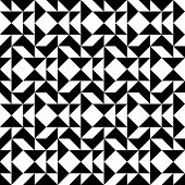 foto of trapezoid  - Black and white geometric seamless pattern with triangle trapezoid and square abstract background vector illustration - JPG