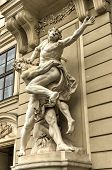 image of hercules  - Statue of Hercules outside the Hofburg Palace in Vienna Austria showing how he fulfills the legendary Labors of Hercules.
