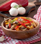 picture of sauteed  - Sauteed mushrooms with pumpkin and sweet pepper - JPG