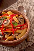 pic of sauteed  - Sauteed mushrooms with pumpkin and sweet pepper - JPG