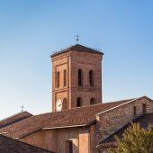 picture of blue-bell  - View of the tower bell of a european romanic catholic church - JPG