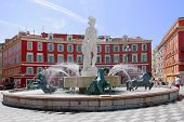 foto of na  - Center of red square in Nice called Place Mass - JPG