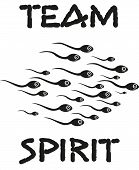 picture of sperm cell  - funny slogan team spirit o swimming sperms - JPG