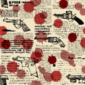 picture of pistols  - Seamless background pattern - JPG