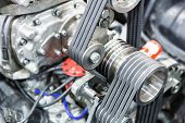 stock photo of hydrogen  - Part of car engine - JPG