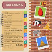 foto of rickshaw  - Sri Lanka infographics statistical data sights - JPG