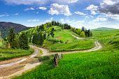 stock photo of cross hill  - composite autumn landscape - JPG