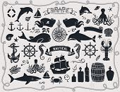 stock photo of compasses  - Maritime Clip Art  - JPG