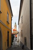 pic of bohemia  - Tower of the Castle of Cesky Krumlov in South Bohemia Czech Republic - JPG