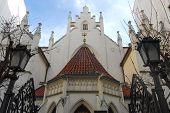 stock photo of synagogue  - Neogothic building facade of Maisel Synagogue  - JPG