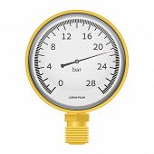 stock photo of air pressure gauge  - Vector illustration - JPG