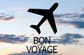stock photo of bon voyage  - Airplane icon  - JPG