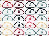 image of wall cloud  - Cloud technology concept - JPG