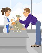 picture of depreciation  - Vector illustration of a depreciation of money  - JPG