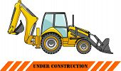 image of backhoe  - Detailed illustration of backhoe loader - JPG