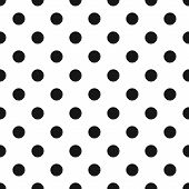 foto of color spot black white  - Black and White Polka Dot Seamless Pattern - JPG