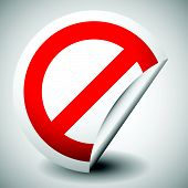 stock photo of restriction  - Red prohibition restriction  - JPG