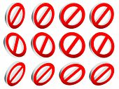 image of no entry  - Red prohibition restriction  - JPG