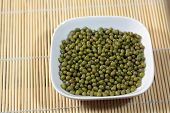 image of mung beans  - A macro photograph of fresh mung beans - JPG