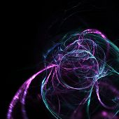 pic of trippy  - Cute abstract fractal wallpaper on black background - JPG