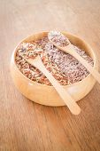 stock photo of whole-grain  - Organic multi whole grain of jasmine rice - JPG