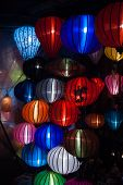 foto of eastern culture  - Night lanterns in old Hoi An town in Vietnam - JPG
