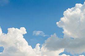 picture of spring-weather  - Sky clouds background Blue sky in good weather days - JPG